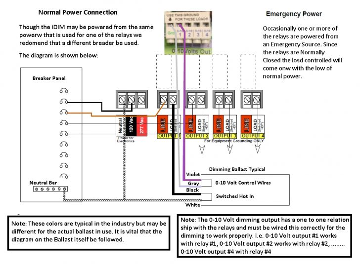 0 10 Volt Dimming Wiring Diagram