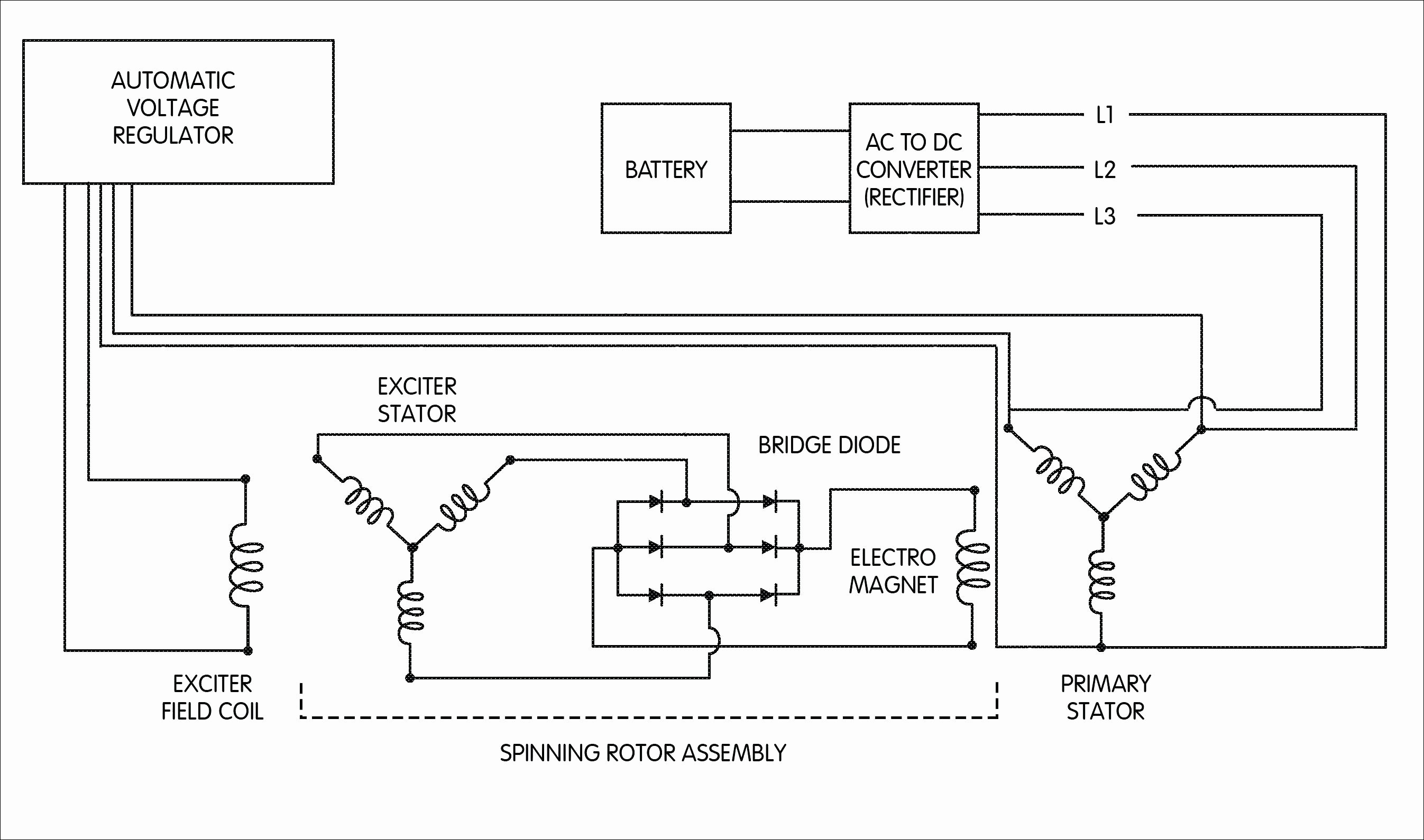 1 Wire Alternator Wiring Diagram Suzuki Samurai | Manual E-Books - Alternator Exciter Wiring Diagram