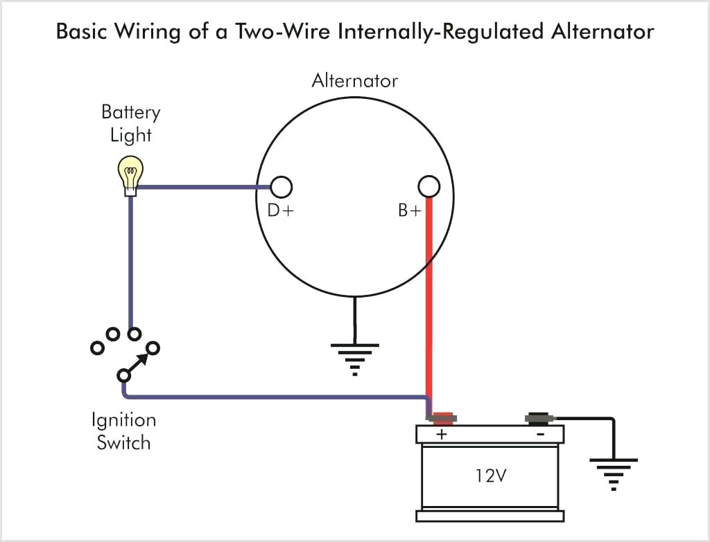 1 Wire Chevy Alternator Wiring Diagram - Wiring Diagram Schema - 1 Wire Alternator Wiring Diagram