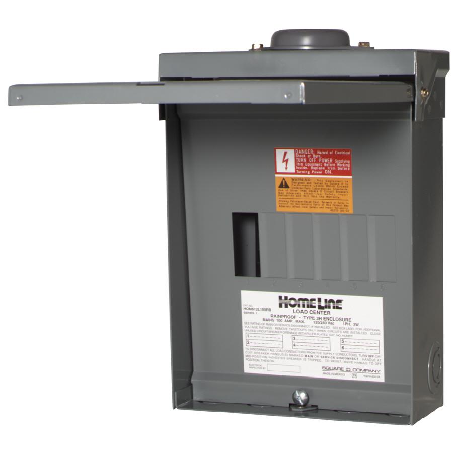 100 Amp Electric 6 Breaker Box Wiring Diagram   Wiring Diagram - Square D 100 Amp Panel Wiring Diagram