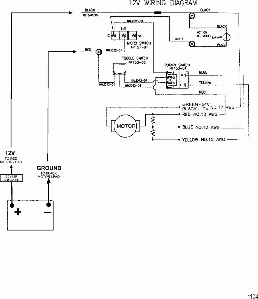 12 24V Trolling Motor Plug Wiring Diagram   Manual E-Books - Minn Kota Trolling Motor Plug And Receptacle Wiring Diagram