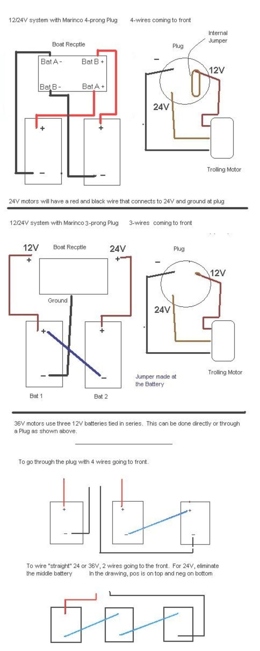 12 24V Trolling Motor Wiring Diagram   Wiring Diagram - Minn Kota Trolling Motor Plug And Receptacle Wiring Diagram