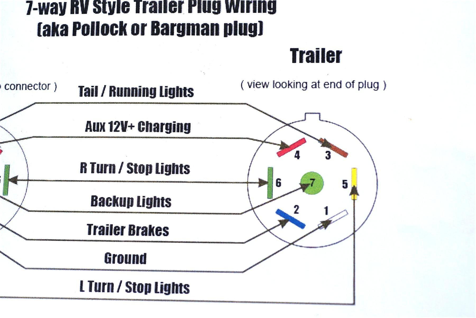 12 Pin Trailer Plug Wiring Diagram Best Of 4 Pin To 7 Pin Trailer - 4 Pin Trailer Plug Wiring Diagram