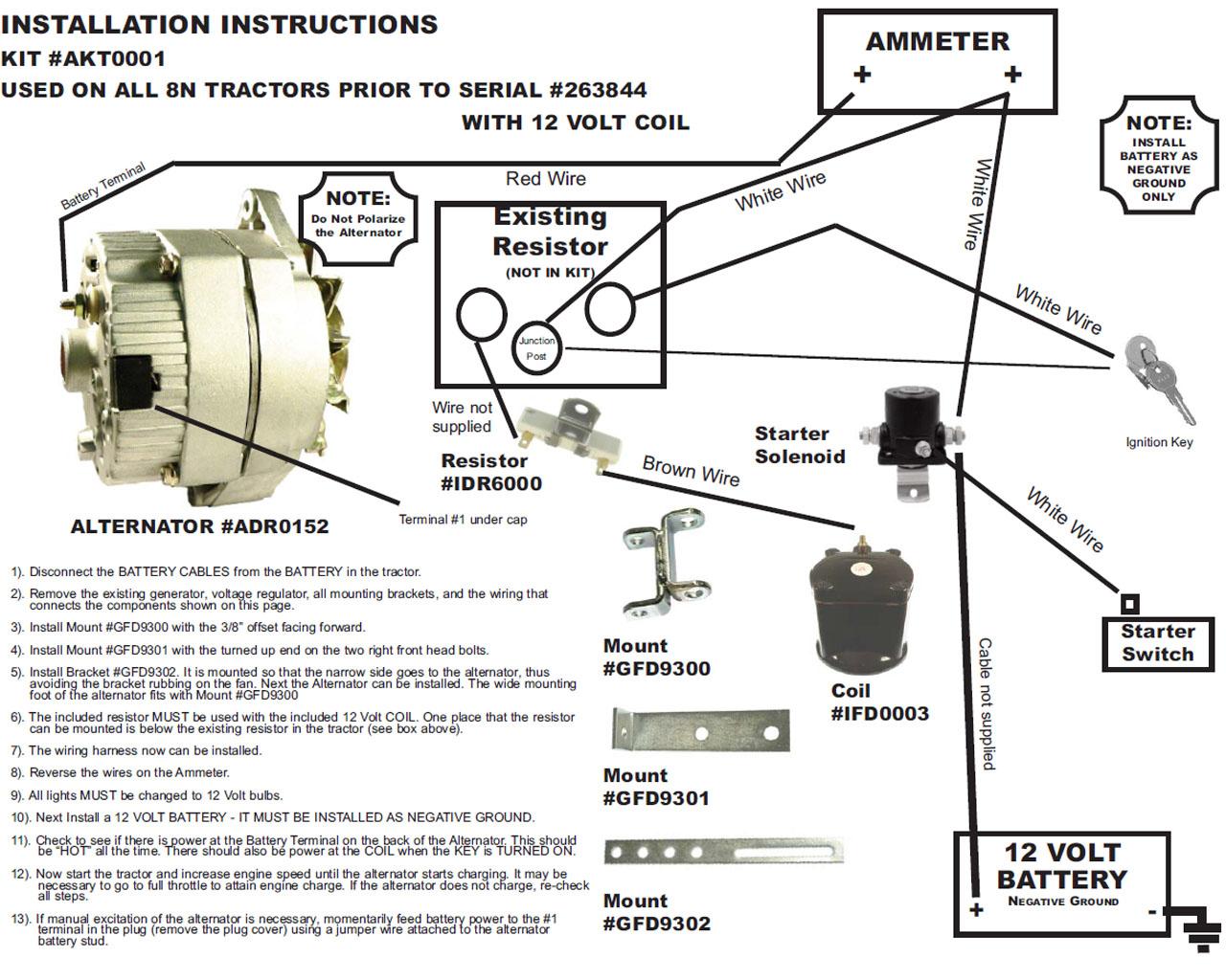 12 Volt Conversion Wiring Diagram For Ferguson   Manual E-Books - 6 Volt To 12 Volt Conversion Wiring Diagram
