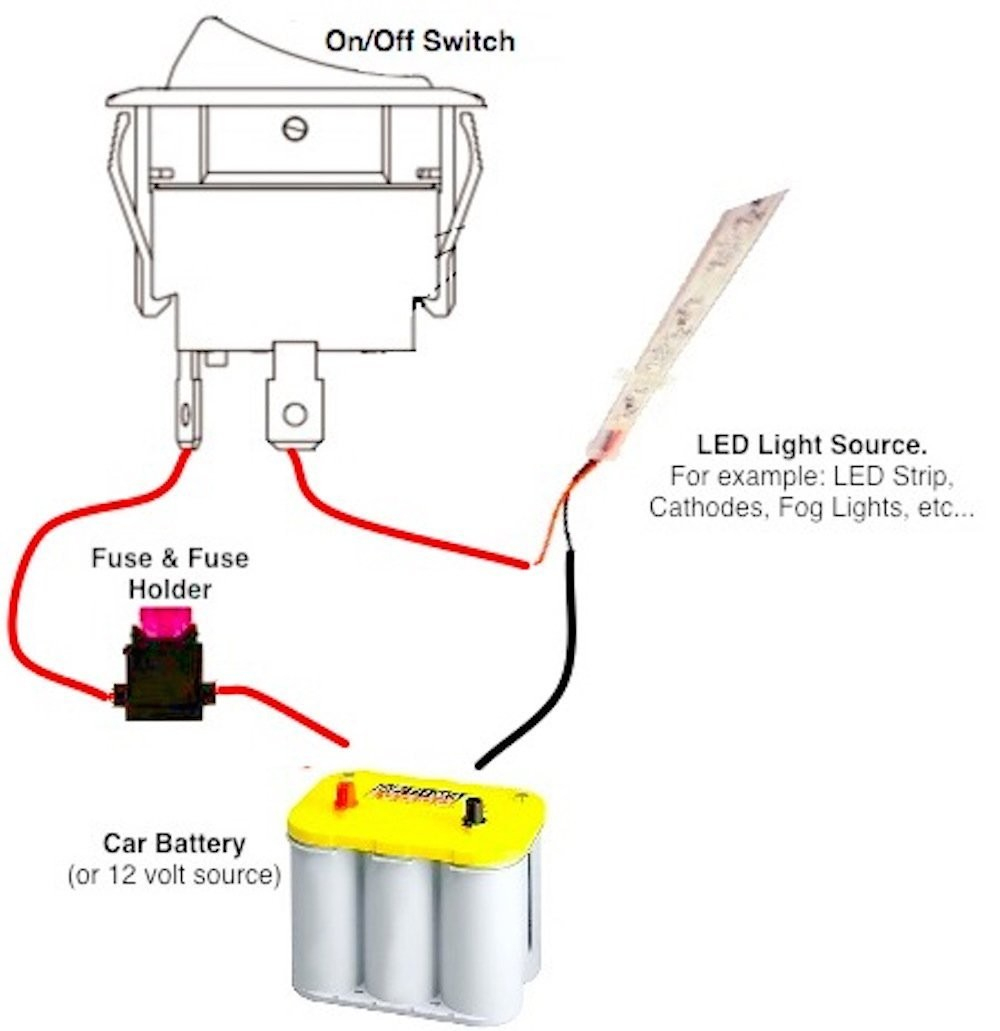 12 Volt On Off Toggle Switch Wiring Diagram   Manual E-Books - On Off On Toggle Switch Wiring Diagram