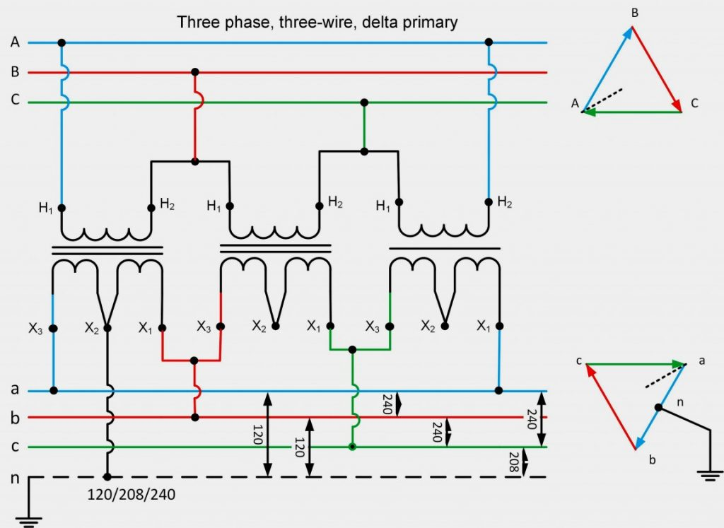 208 Volt Single Phase Wiring Diagram Wirings Diagram