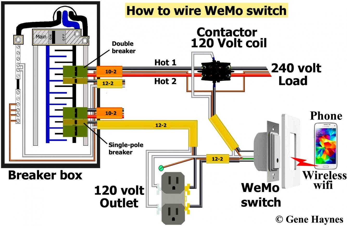 120 Volt 2 Pole Breaker Wiring Diagram   Wiring Diagram - Double Pole Circuit Breaker Wiring Diagram