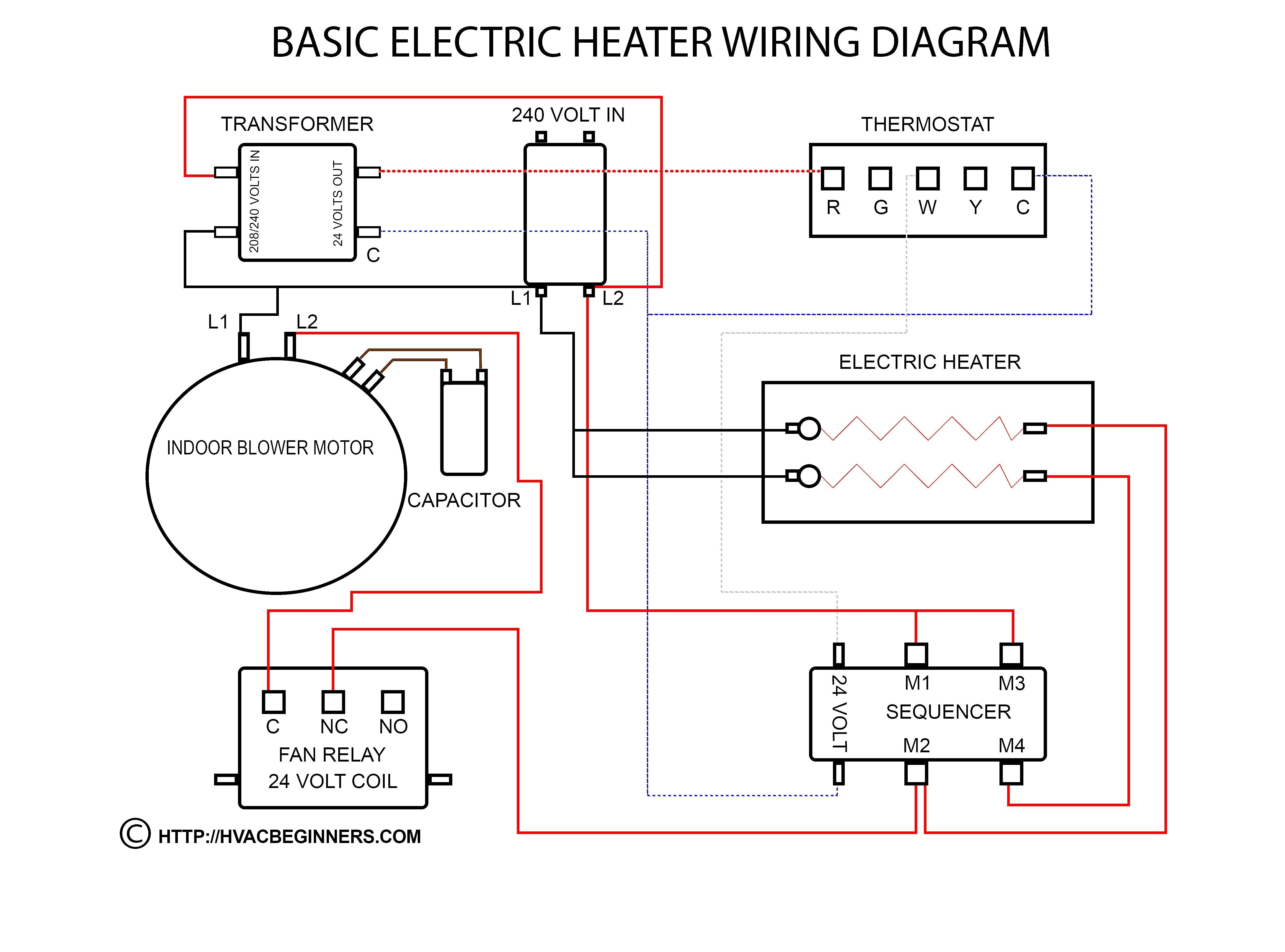 120V Electric Baseboard Thermostat Wiring Diagram | Wiring Library - 240 Volt Heater Wiring Diagram