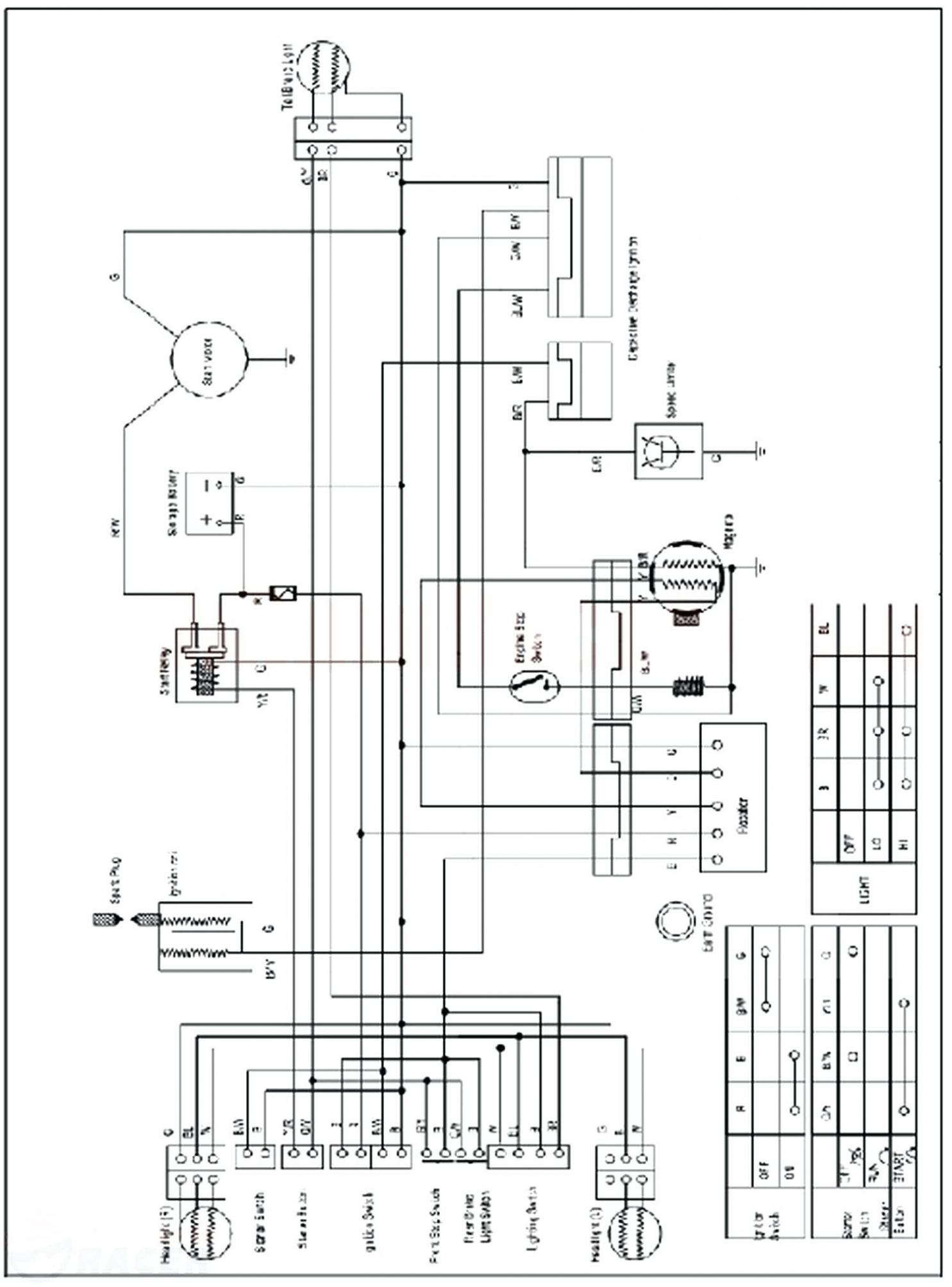 125Cc Taotao Atv Wiring Diagram   Schematic Diagram - Chinese Atv Wiring Diagram 50Cc