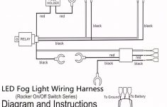 12V 40A Led Fog Light Wiring Harness Laser Rocker Switch Relay Fuse   Fog Light Wiring Diagram With Relay