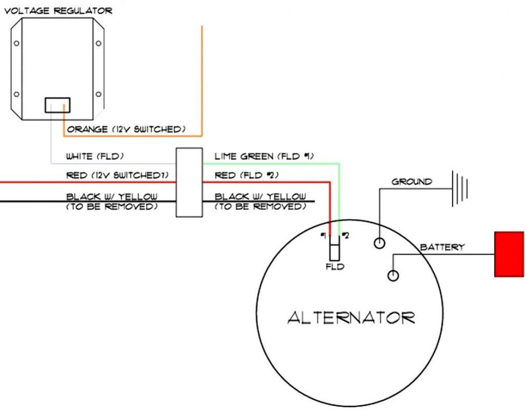 12V 8N 3 Wire Alternator Diagram   Wiring Diagrams   1 Wire Alternator Wiring Diagram