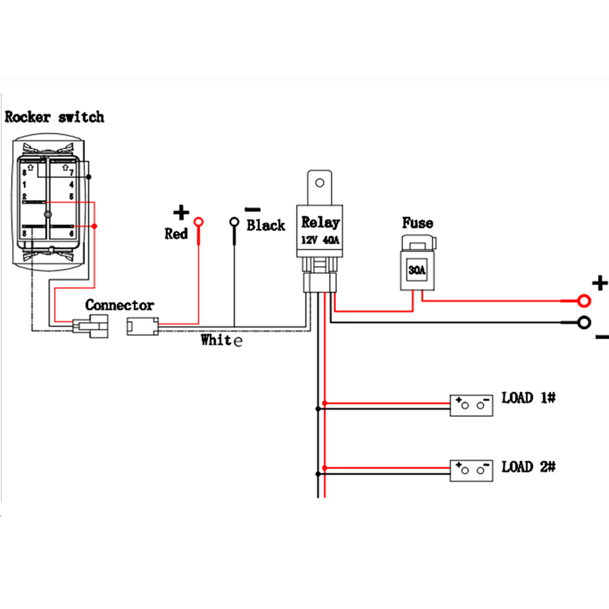 12V Relay Wiring Diagram Light - Wiring Diagrams Thumbs - Led Light Bar Wiring Diagram