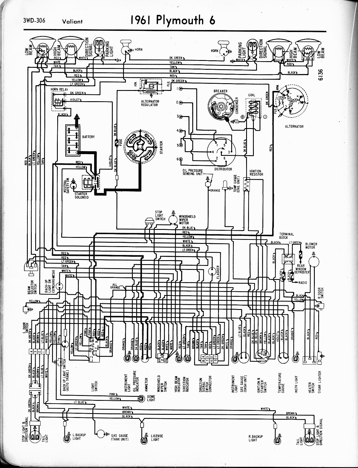 1956 - 1965 Plymouth Wiring - The Old Car Manual Project - Dodge Ignition Wiring Diagram