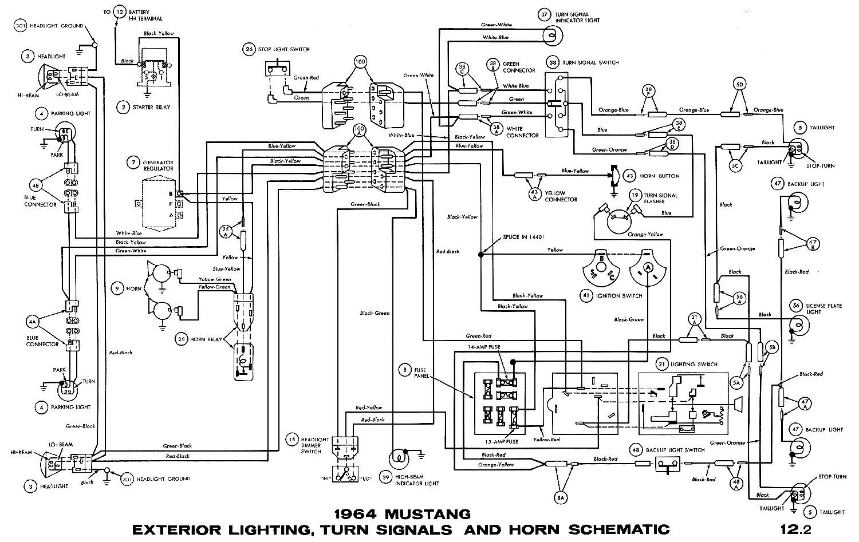 1964 Mustang Wiring Harness - Wiring Diagrams Hubs - 65 Mustang Wiring Diagram