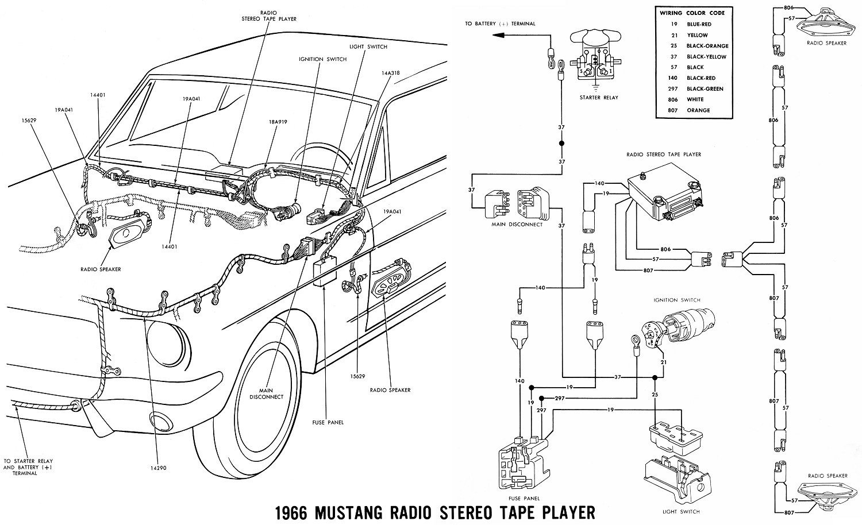 1966 Mustang Wiring Diagrams - Average Joe Restoration - 66 Mustang Wiring Diagram