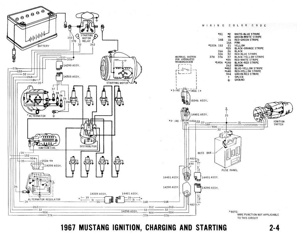 1967 Mustang Ignition Wiring   Wiring Diagrams Hubs   1967 Mustang Wiring Diagram
