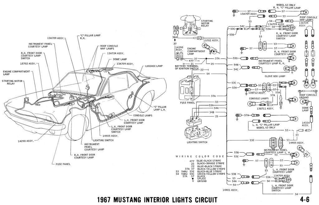 1967 Mustang Wiring And Vacuum Diagrams   Average Joe Restoration   1967 Mustang Wiring Diagram