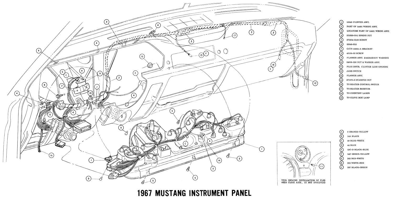1967 Mustang Wiring And Vacuum Diagrams - Average Joe Restoration - 1967 Mustang Wiring Diagram