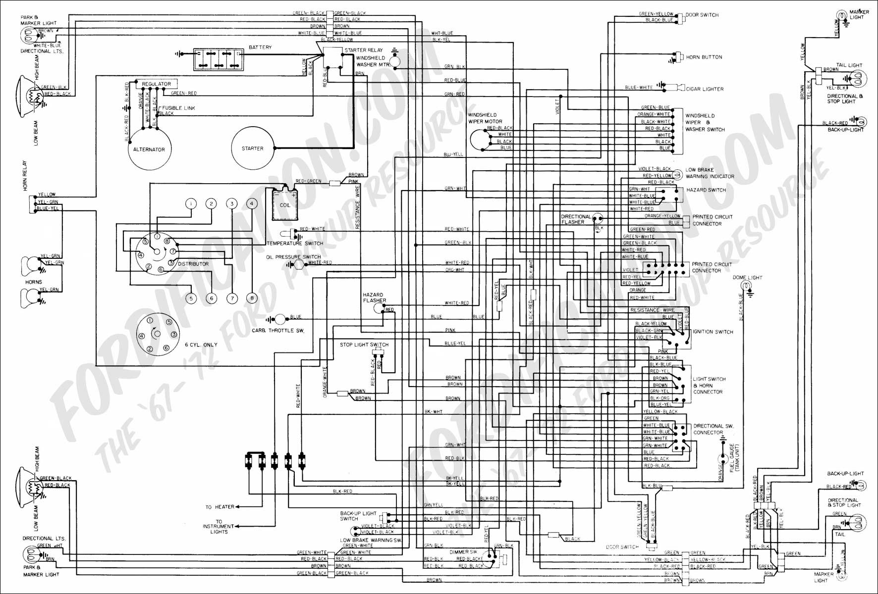 1972 Mustang Wiring Diagram - Wiring Diagrams Hubs - 1997 Ford F150 Radio Wiring Diagram