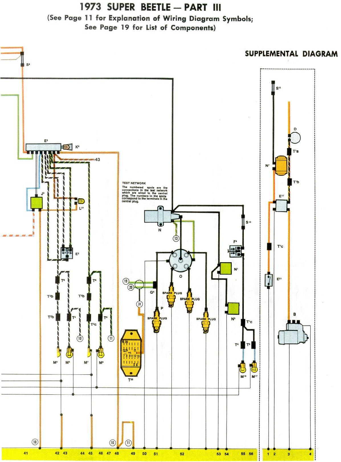 1973 Super Beetle Wiring Diagram   Thegoldenbug - 1973 Vw Beetle Wiring Diagram