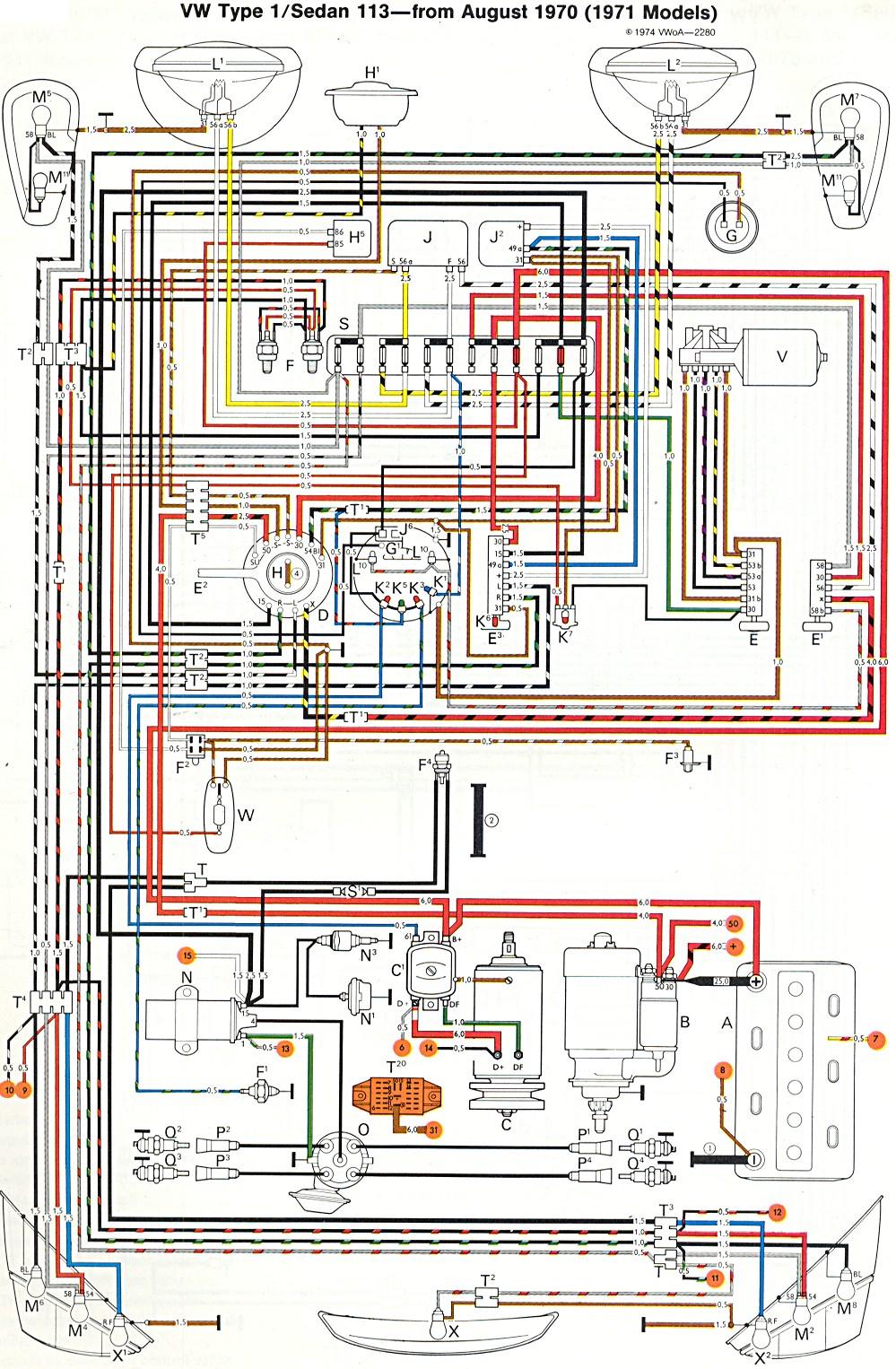 1973 Vw Beetle Wiring Diagram   Wiring Diagram - 1973 Vw Beetle Wiring Diagram