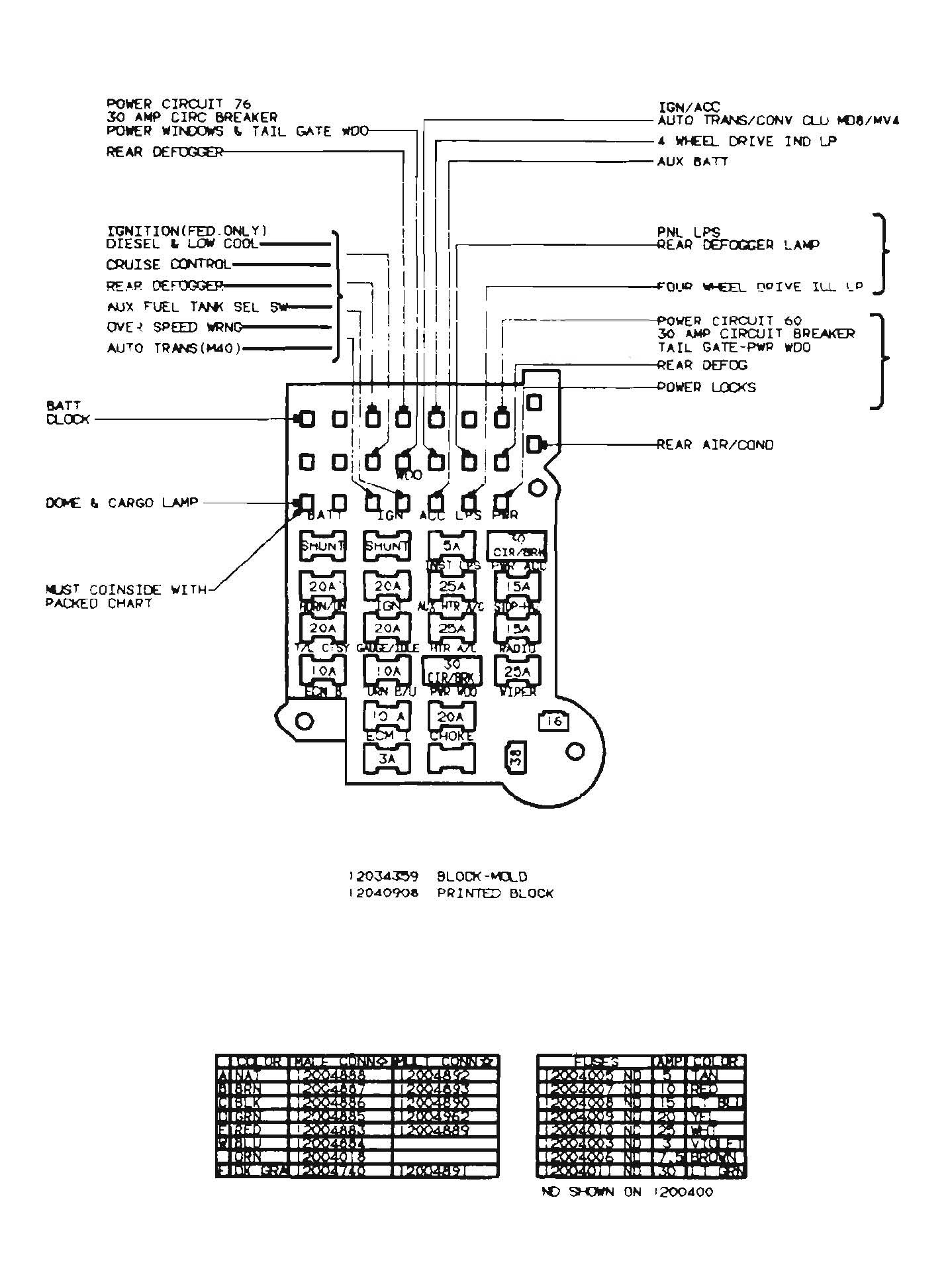 1990 Chevy Fuse Box - Wiring Diagram Detailed - 1990 Chevy Truck Wiring Diagram