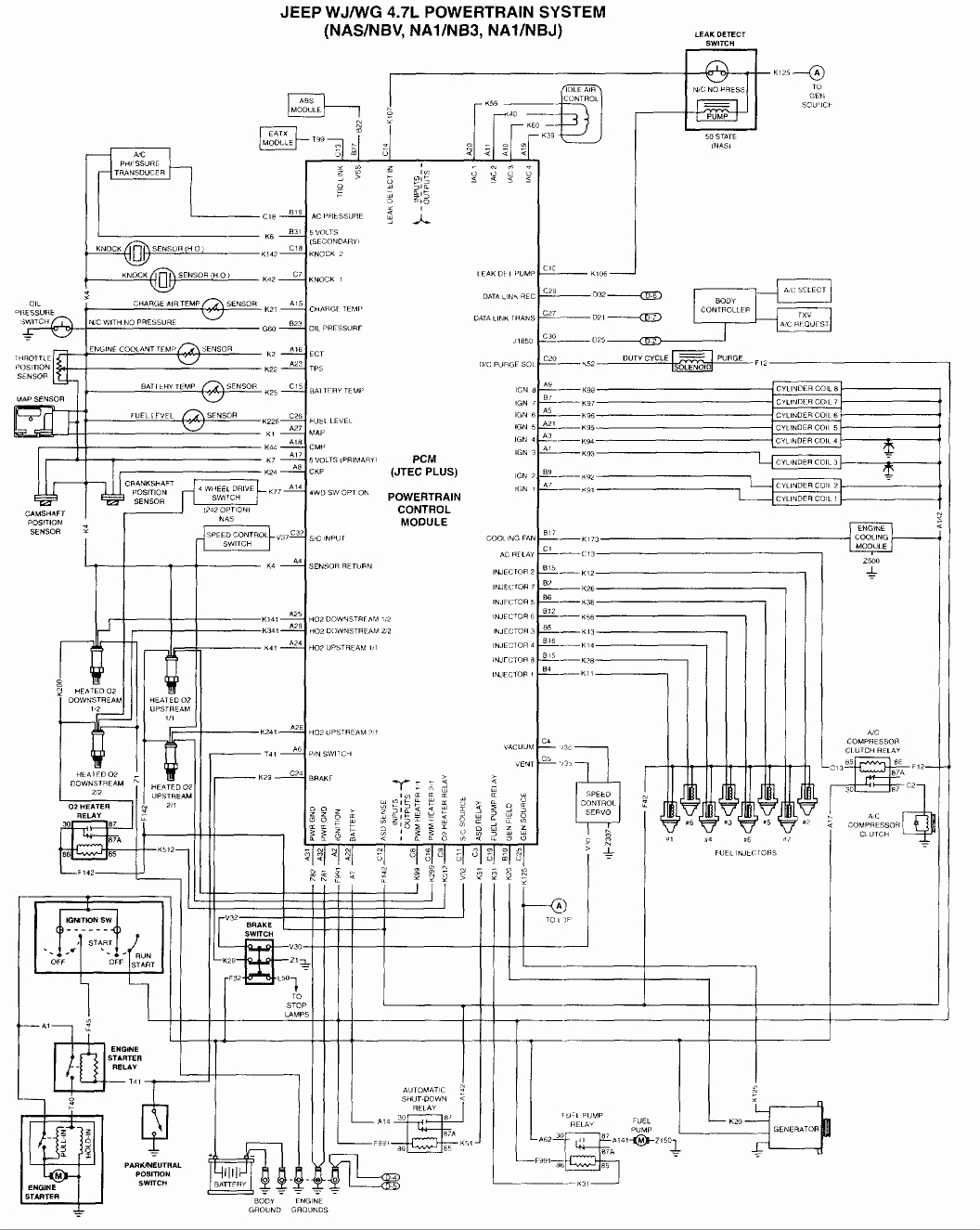 1995 Jeep Cherokee Auxiliary Fan Wiring Diagram | Manual E-Books - 2002 Jeep Grand Cherokee Cooling Fan Wiring Diagram