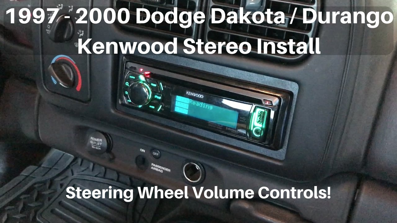 1997 - 2000 Dodge Dakota/durango Stereo Install W/ Volume Controls - Kenwood Radio Wiring Diagram