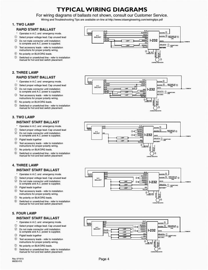 4 Lamp T8 Ballast Wiring Diagram