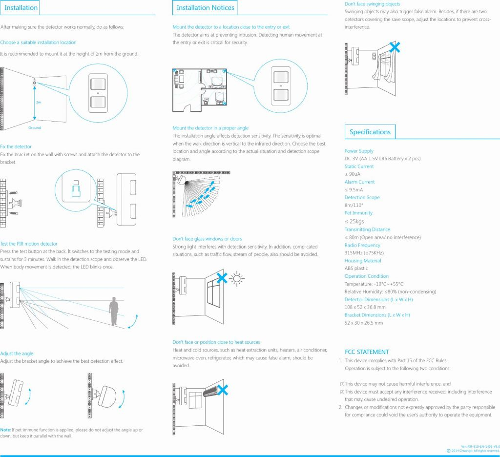 2 Location Motion Sensor Light Switch Wiring Diagram New P910 Pir - Motion Sensor Light Switch Wiring Diagram