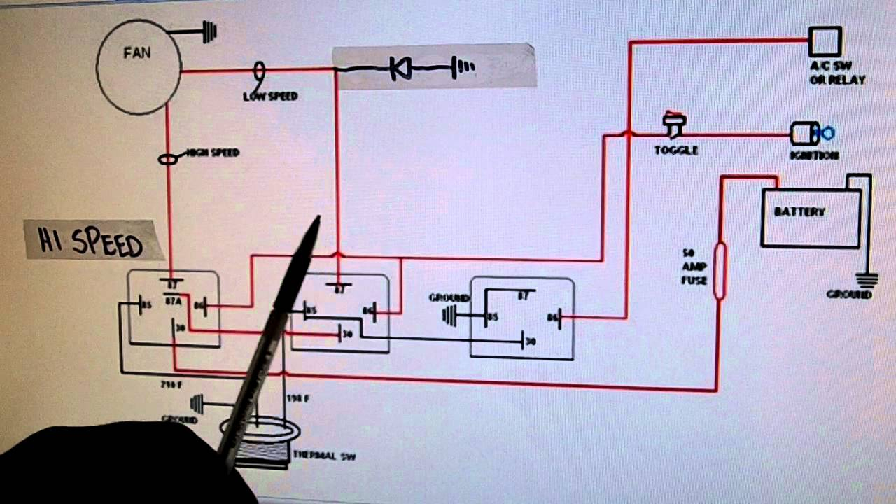 2- Speed Electric Cooling Fan Wiring Diagram - Youtube - Electric Radiator Fan Wiring Diagram