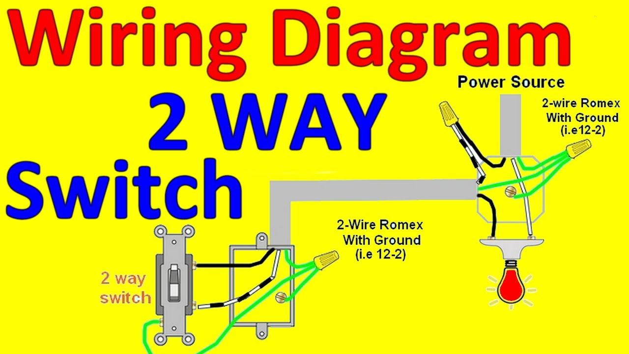 2 Way Light Switch Wiring Diagrams - Youtube - Wiring A Light Switch Diagram
