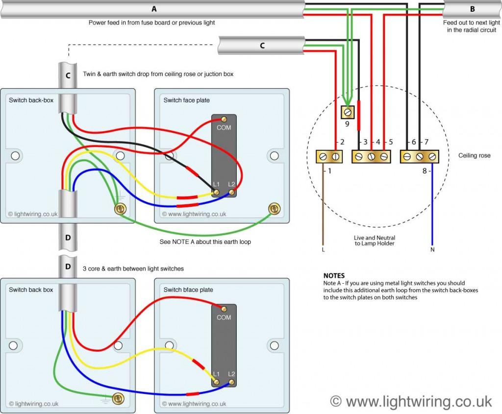 2 Way Switch Wiring Diagram | Light Wiring - Light Switch Wiring Diagram