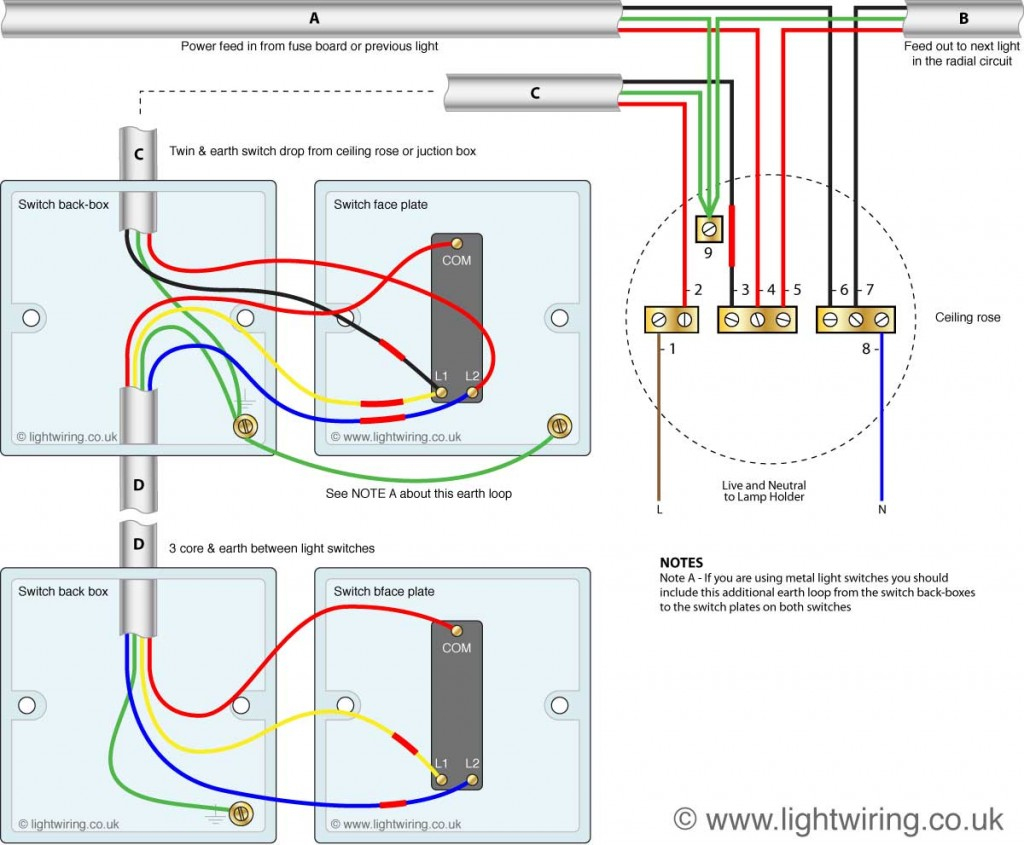 2 Way Switch Wiring Diagram | Light Wiring - Wiring Diagram Light Switches