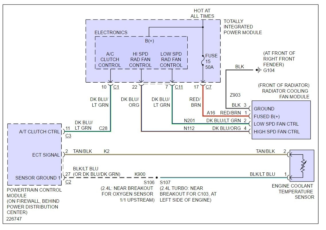 2001 Pt Cruiser Cooling Fan Wiring Diagram | Best Wiring Library - 2006 Pt Cruiser Cooling Fan Wiring Diagram