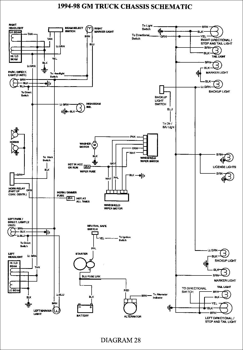 2002 Chevrolet Express 1500 Trailer Wiring | Manual E-Books - 2002 Chevy Silverado Trailer Wiring Diagram