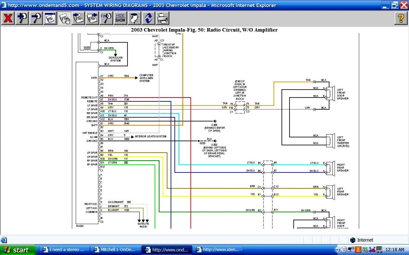 2004 Chevy Cobalt Radio Wiring Diagram | Wiring Diagram - 2007 Chevy Impala Radio Wiring Diagram