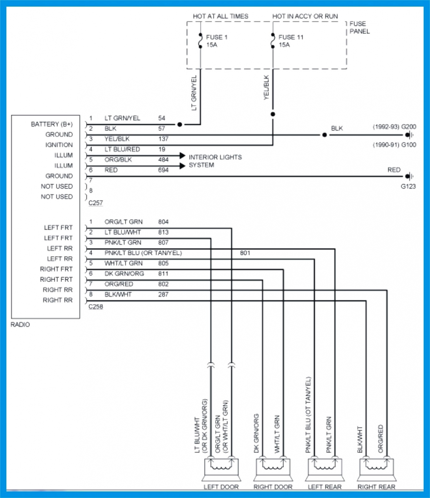 2005 Ford Explorer Wiring Harness Diagram - Wiring Diagrams Hubs - 2002 Ford Explorer Radio Wiring Diagram