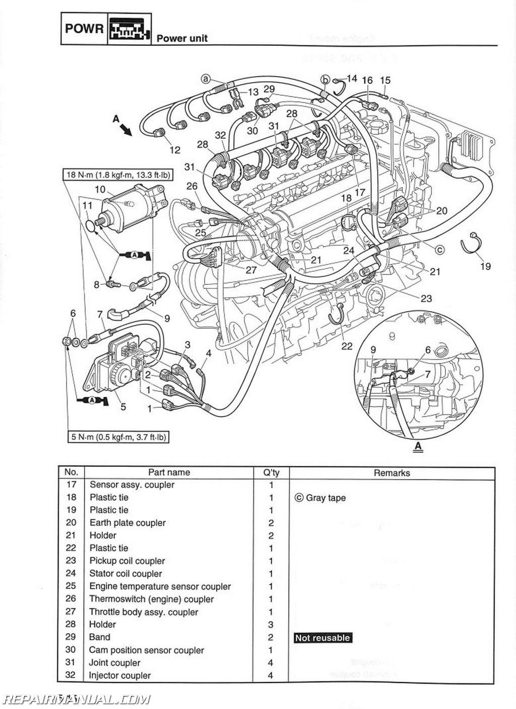 2010-2014 Yamaha Vx1100 Cruiser Deluxe 2015 V1 Sport Waverunner - Taotao 125 Atv Wiring Diagram
