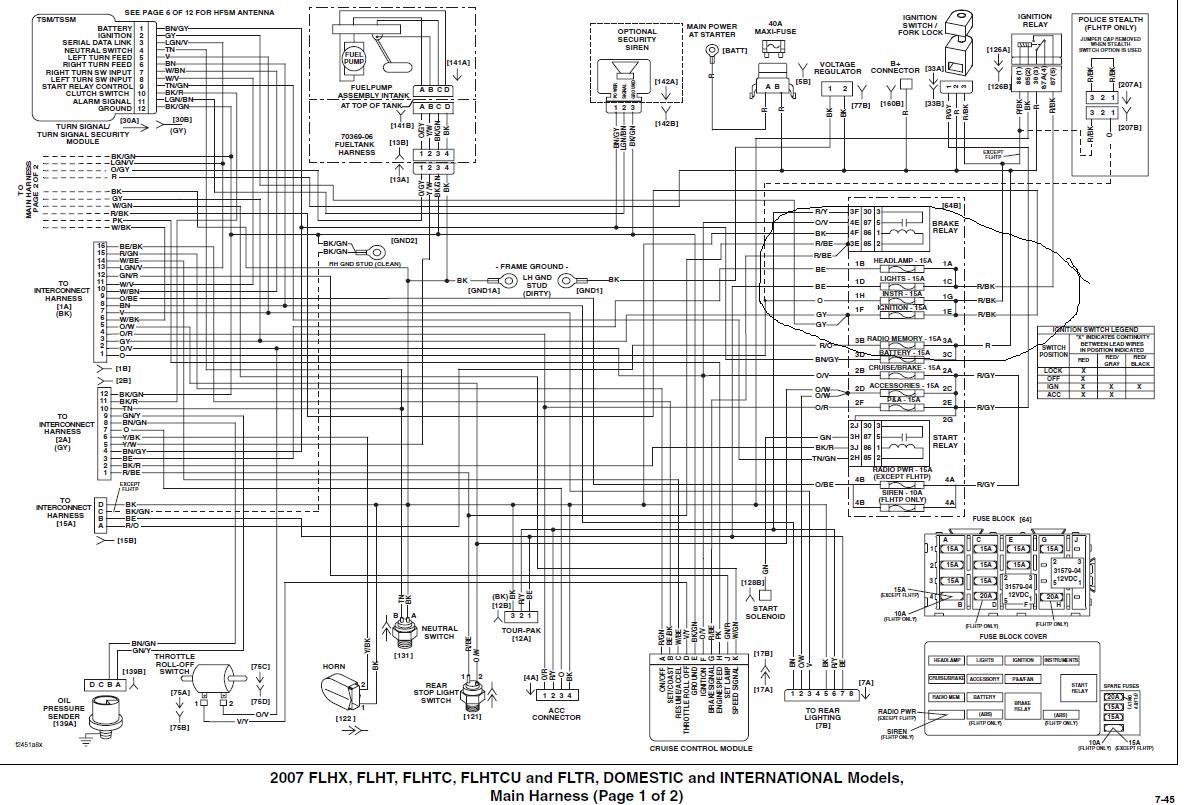 2011 Harley Wiring Diagram - Wiring Diagram Blog - Harley Davidson Wiring Diagram Download