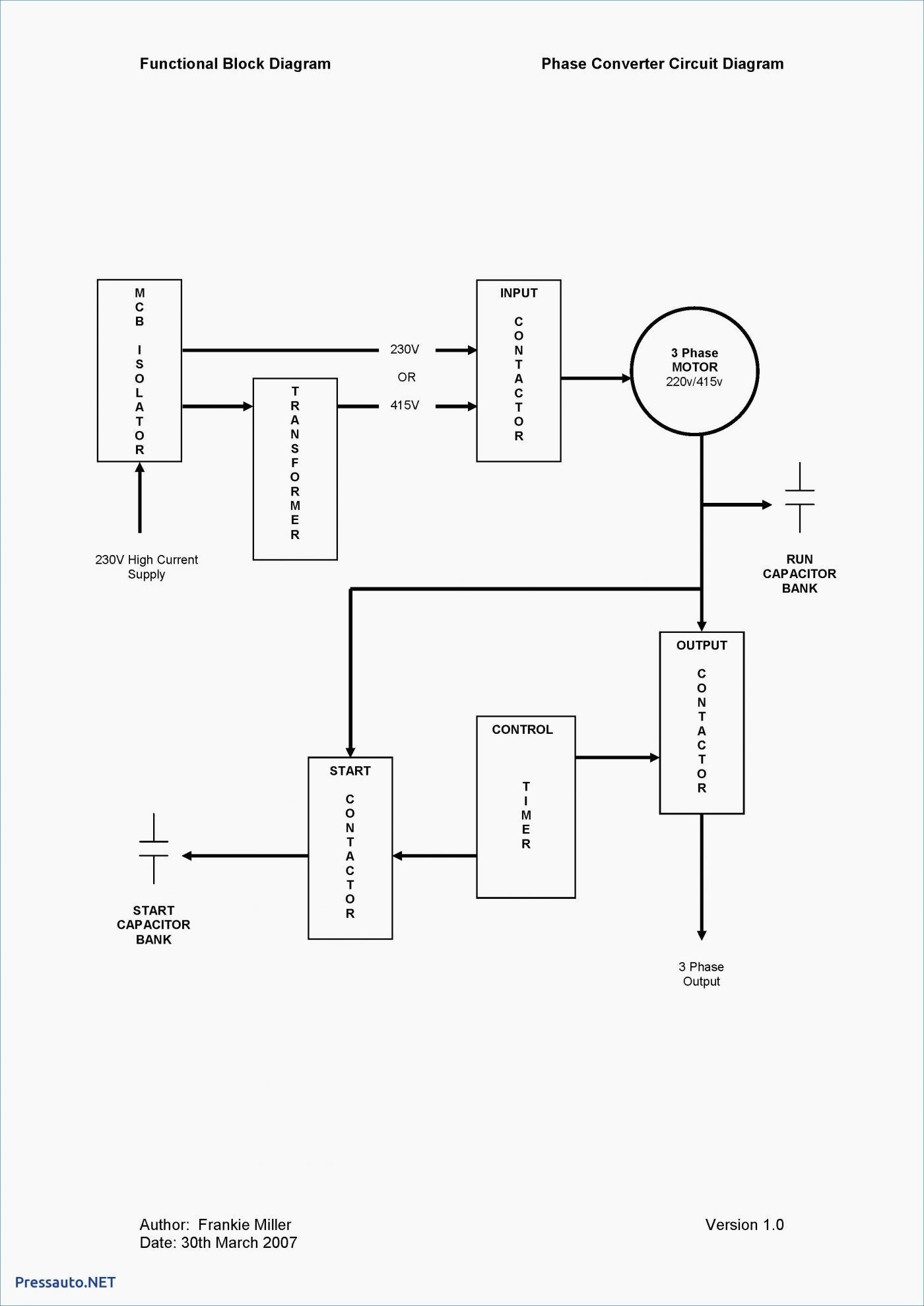 230V Single Phase Wiring Diagram | Wiring Diagram - Wiring Diagram For 230V Single Phase Motor