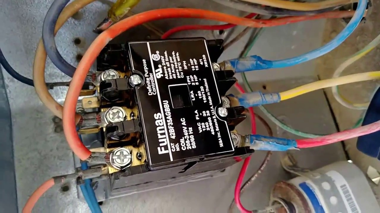 24 Volt Vs 240 V Coil Contactor Wiring Diagram Air Conditioner - 240 Volt Contactor Wiring Diagram