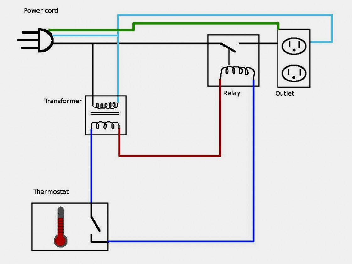 240V Heater Thermostat Wiring Diagram | Manual E-Books - Single Pole Thermostat Wiring Diagram