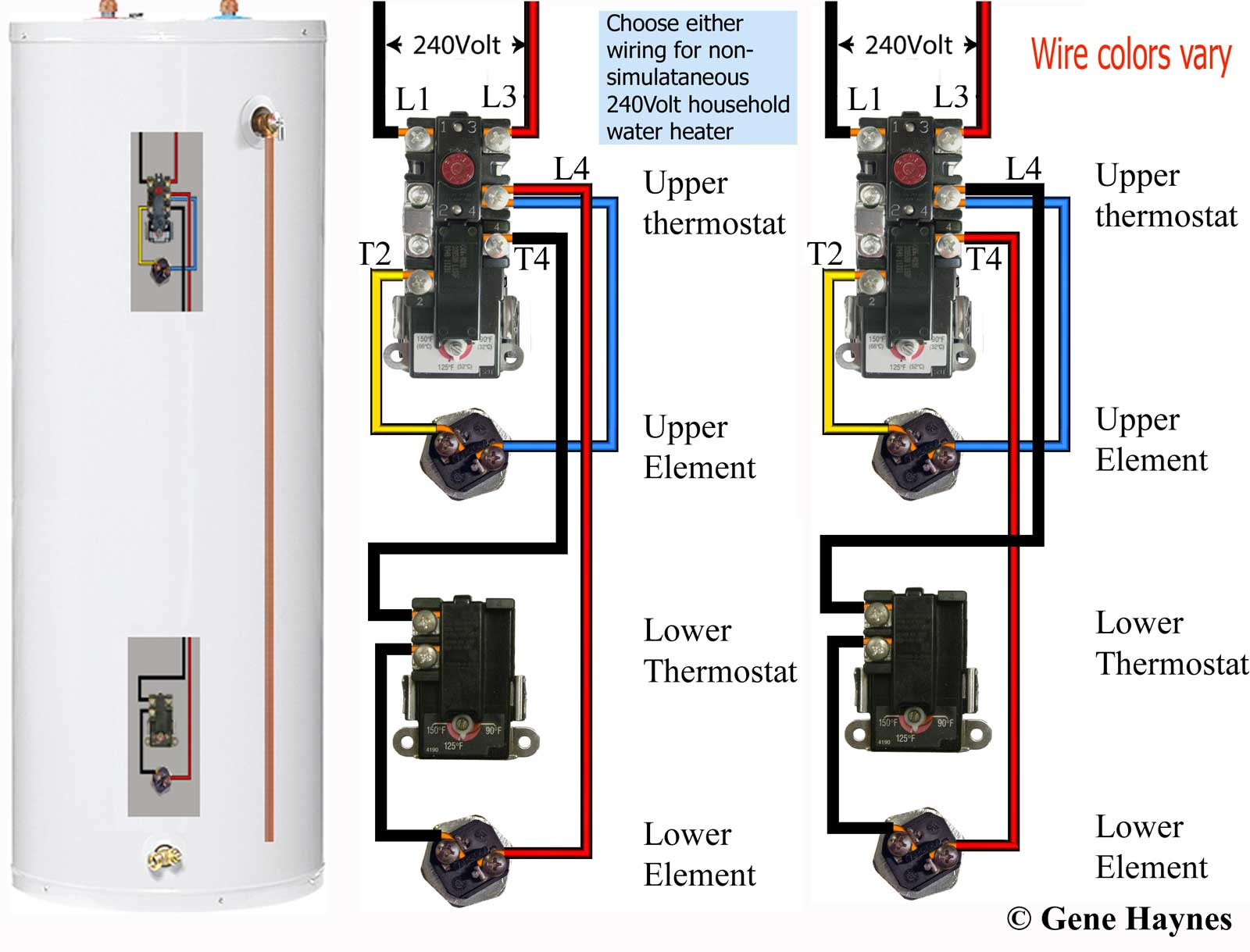 240V Water Heater Wiring Diagram | Manual E-Books - 240V Water Heater Wiring Diagram