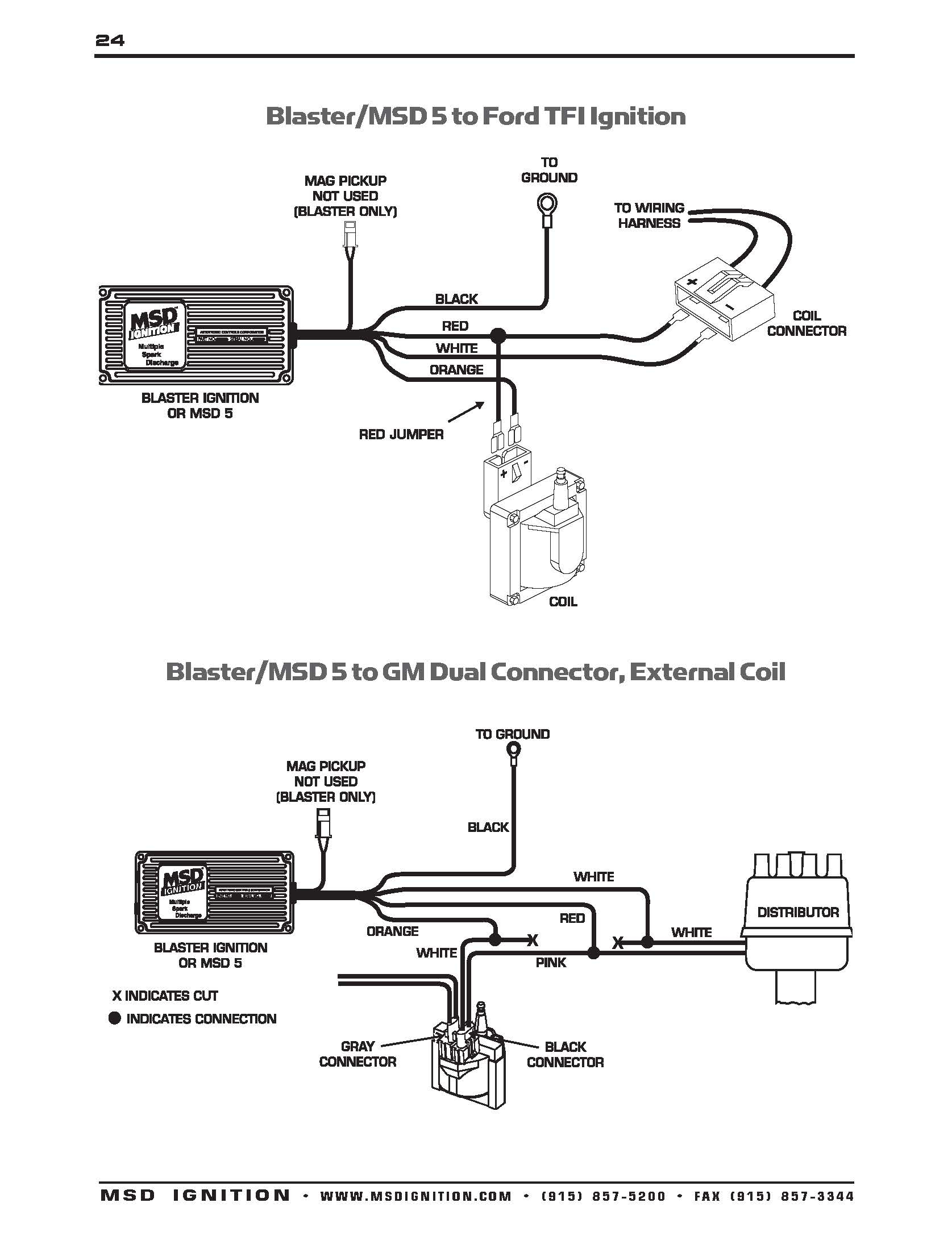 2Wire Distributor Wiring Diagram Msd 6Al Connected To | Wiring Diagram - Msd 6Al Wiring Diagram Ford