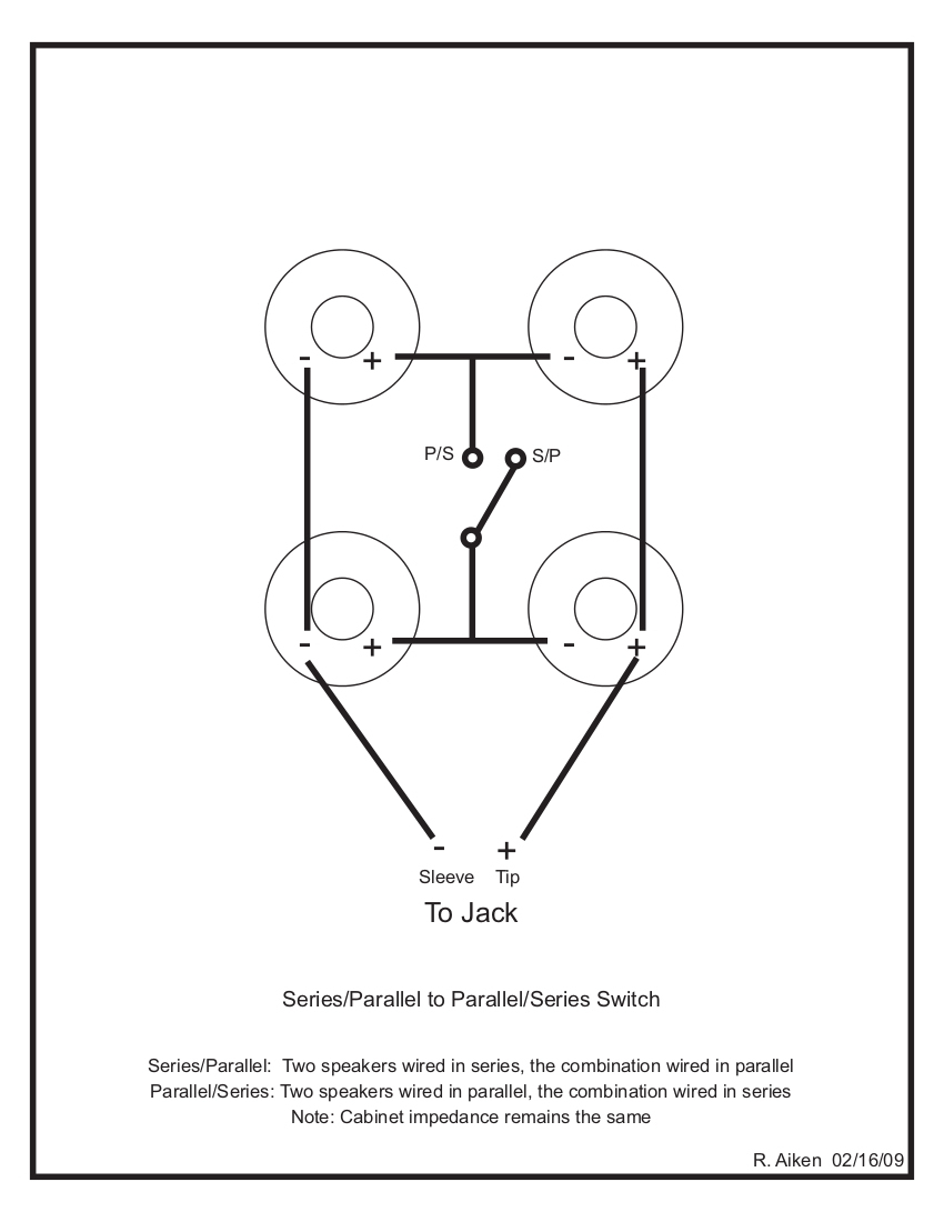 2X12 Speaker Cab Wiring Diagram | Wiring Diagram - Speaker Wiring Diagram Series Vs Parallel