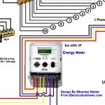 3 Phase 4 Wire Diagram Of Energy Meter | Wiring Diagram   Electric Meter Wiring Diagram