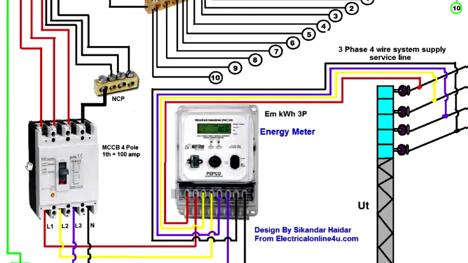 3 Phase 4 Wire Meter Diagram - Owner Manual & Wiring Diagram