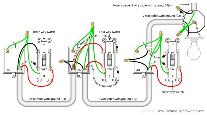 3 Way Switch Wiring Diagram Power At Switch