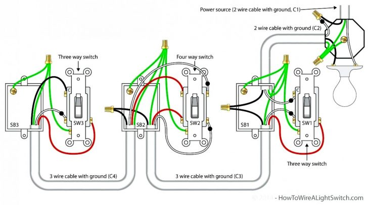 3 Way Light Switching Wiring Diagram